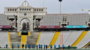 Тренировка Шпор в Барселоне