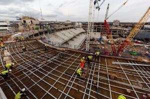 Ход строительства нового стадиона (23.02.17)