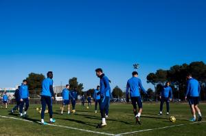 Первый тренировочный день в Барселоне