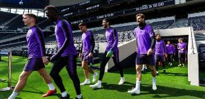 Первая тренировка на новом стадионе