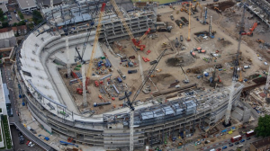 Новый стадион с высоты птичьего полета (06.07.2017)