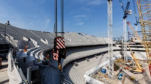 Свежие фотографии со стройки нового стадиона