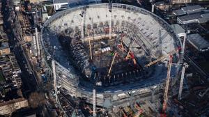 Новый стадион с высоты птичьего полета (24.01.2018)