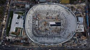 Фотографии стадиона с высоты птичьего полёта