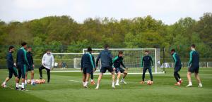 Тренировка Шпор перед полуфиналом Лиги Чемпионов