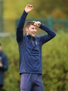 Тренировка перед Ливерпулем